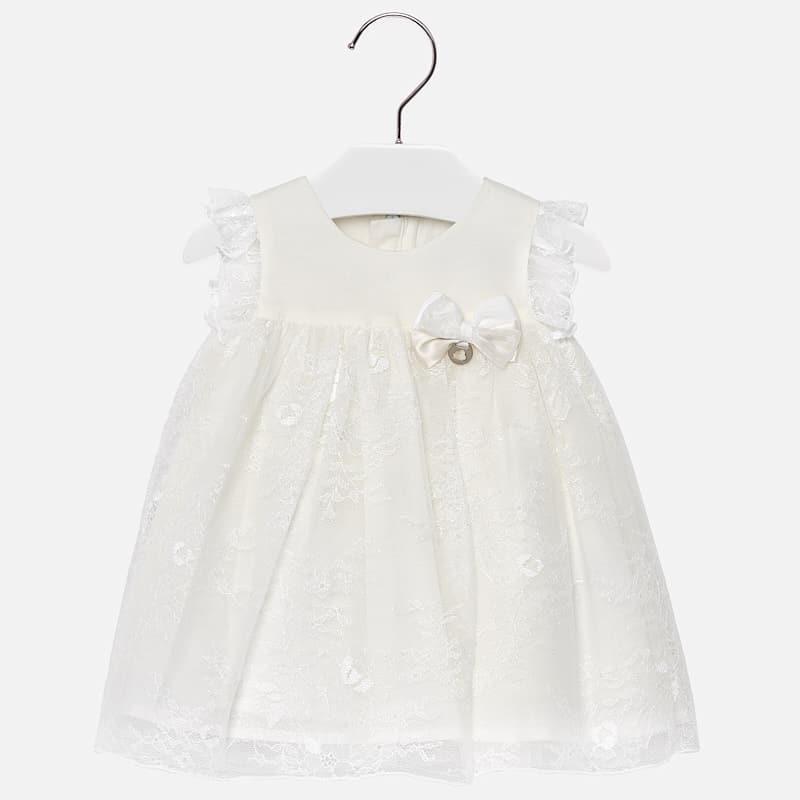 5406e0473b Kremowa sukienka na ramiączkach z koronką i kokardką dla dziewczynki –  Mayoral ...
