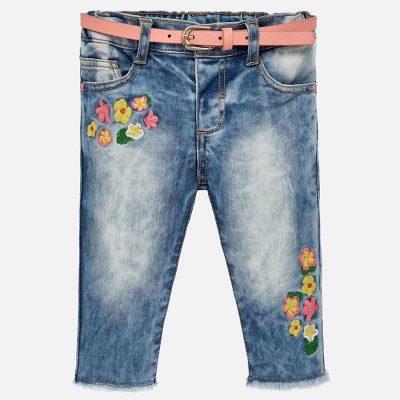 5a1c921011301 Długie spodnie z haftem dla dziewczynki – Mayoral art. 1516