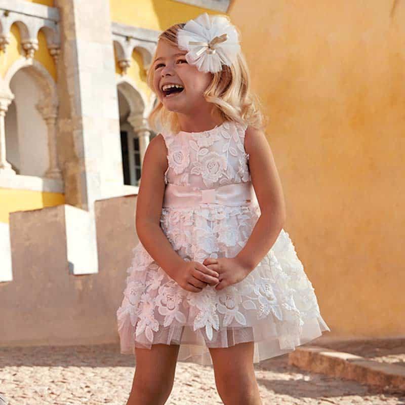 e87688824a Sukienka na ramiączkach z tiulem i kwiatami dla dziewczynki ...