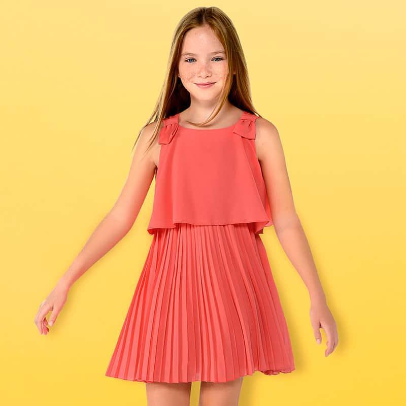 e1ea2e0324 Plisowana sukienka z gazy dla dziewczyny – Mayoral art. 6930 ...